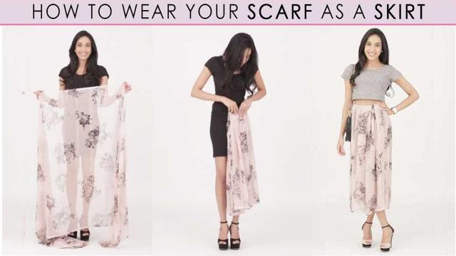 How to wear a scarf as a skirt?