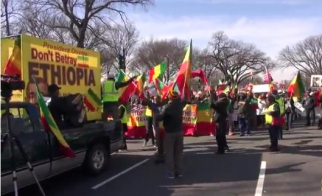 Ethiopians staged demonstration in Washington, DC