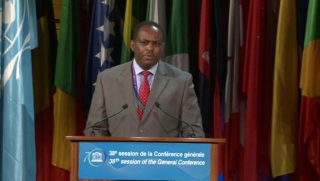 UNESCO - 38th General Conference – 4/11/2015 General Policy Debate  Ethiopia