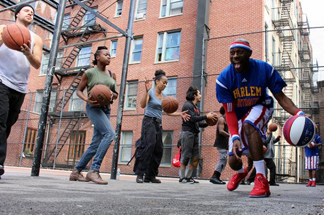 Harlem Globetrotters and STOMP create basketball music