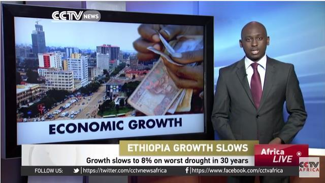 Ethiopia's economic growth slows to 8% on worst drought in 30 years