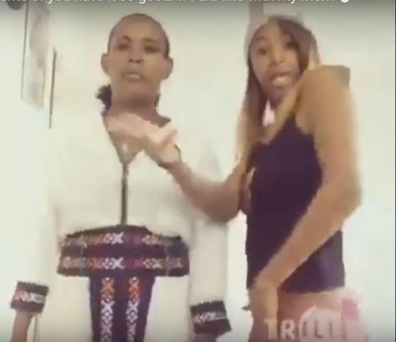 Watch Ethiopian girl dancing HIP HOP with her mom