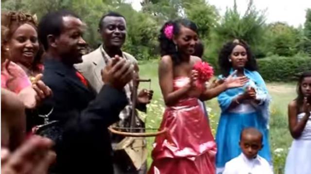 Azmari playing on Ethiopian wedding