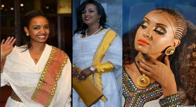 10 Beautiful Ethiopian actresses with traditional dresses