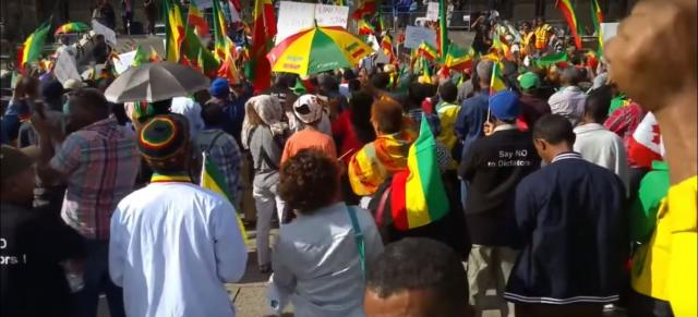 Ethiopians  in Canada staged protest against human rights Violation