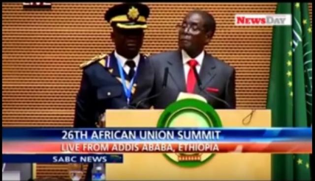 Video showing Mugabe stumbles, sleeps at AU Summit in Ethiopia
