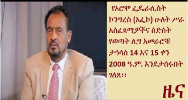 Ethiopian opposition Oromo Federalist Congress say members arrested