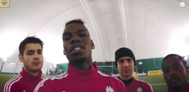 Watch Amazing Freestyle Football: Juventus Stars Pogba, Morata, Evra and Zaza Take on Freestyle Foot