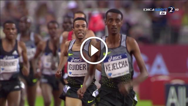Yomif Kejelcha wins 3000m Men's HD Diamond League Paris 2016