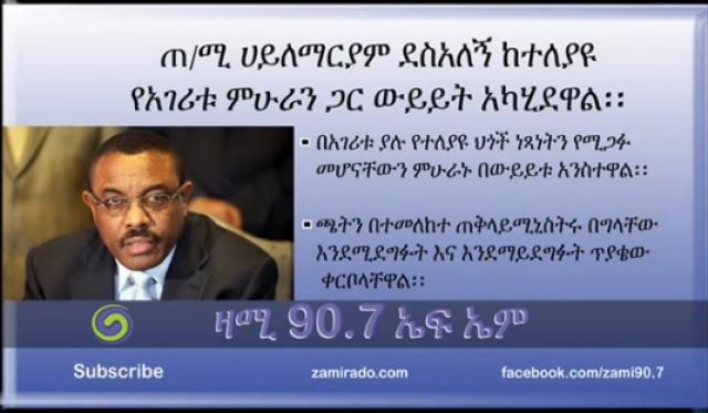Hailemariam Desalegn Discuss with Different Professionals in the Country