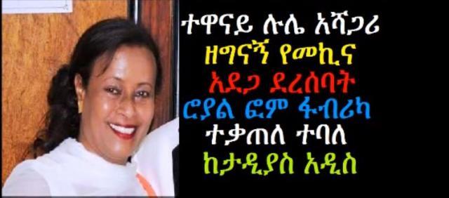 Artist Lule Ashagari survives horrific Car accident