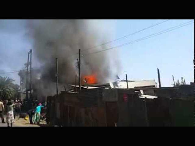Fire Broke out again at the Merkato Area