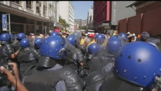 Protests break out in South Africa over President Zuma
