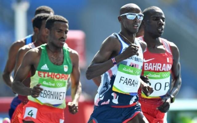 Mo Farah wins the 5,000m final, Ethiopia's Hagos Gebrehiwet gets bronze