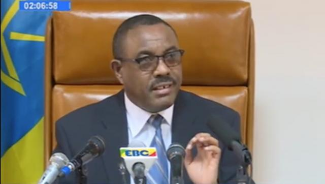 PM Hailemariam Desalegn Speaks about Oromo and Amhara Protests in His Latest Press Briefing