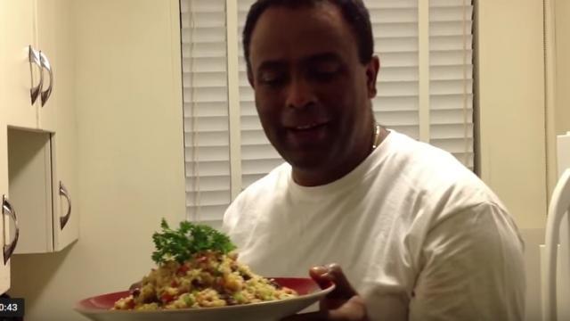 Chef Demeke girma Cooking Couscous