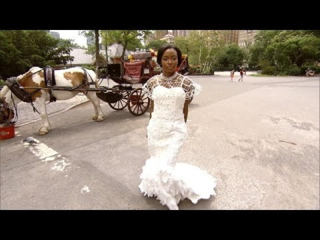 This Brides Stunning Wedding Gown Is Actually Make Out of Toilet Paper
