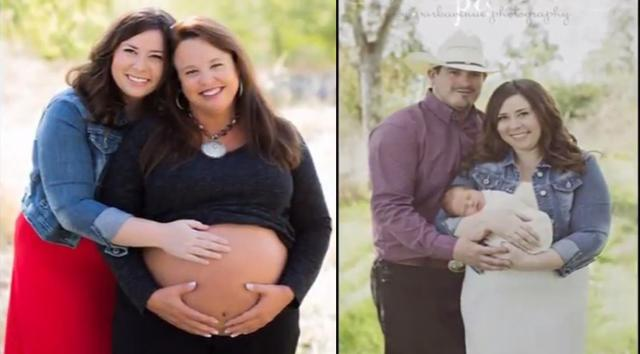 Woman gives birth to her GRANDSON after her daughter was diagnosed with cervical condition