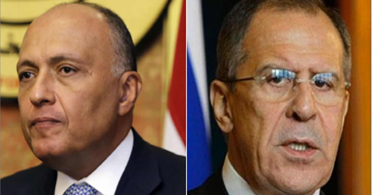 Russian FM arrives in Cairo to discuss bilateral relations with Egyptian counterpart