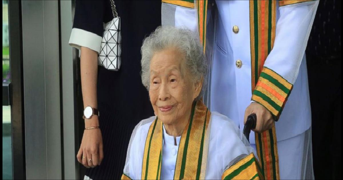 91-year-old Thai woman earns bachelor's degree