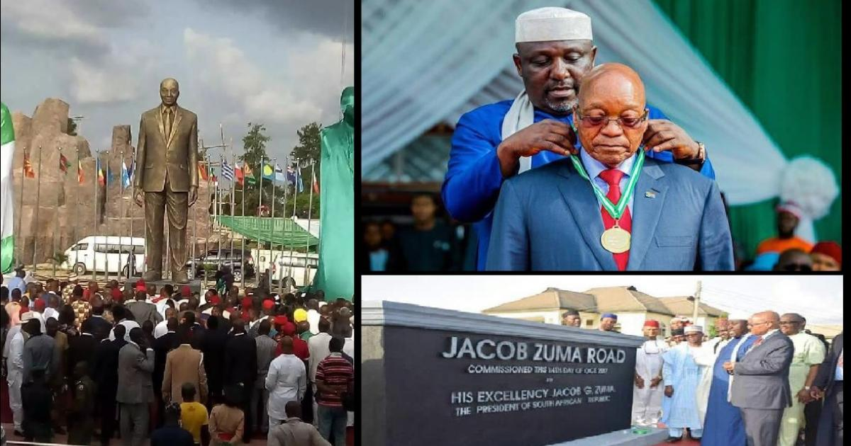 Nigerians are wondering why Jacob Zuma now has a statue in their country