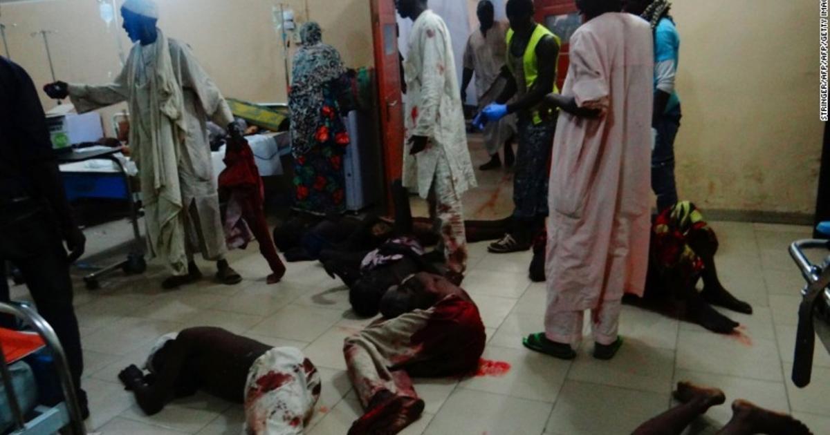 Dozens killed in northern Nigeria triple suicide attack