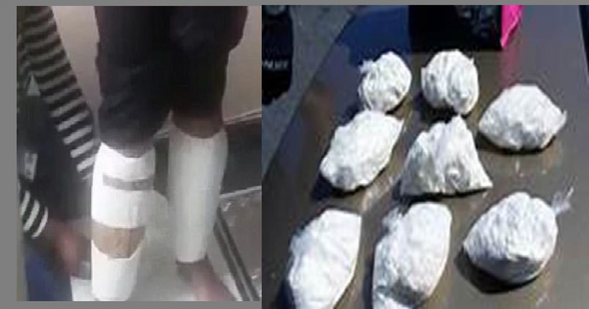 Zambia arrests S. African woman with 3.2kg cocaine wrapped around her legs