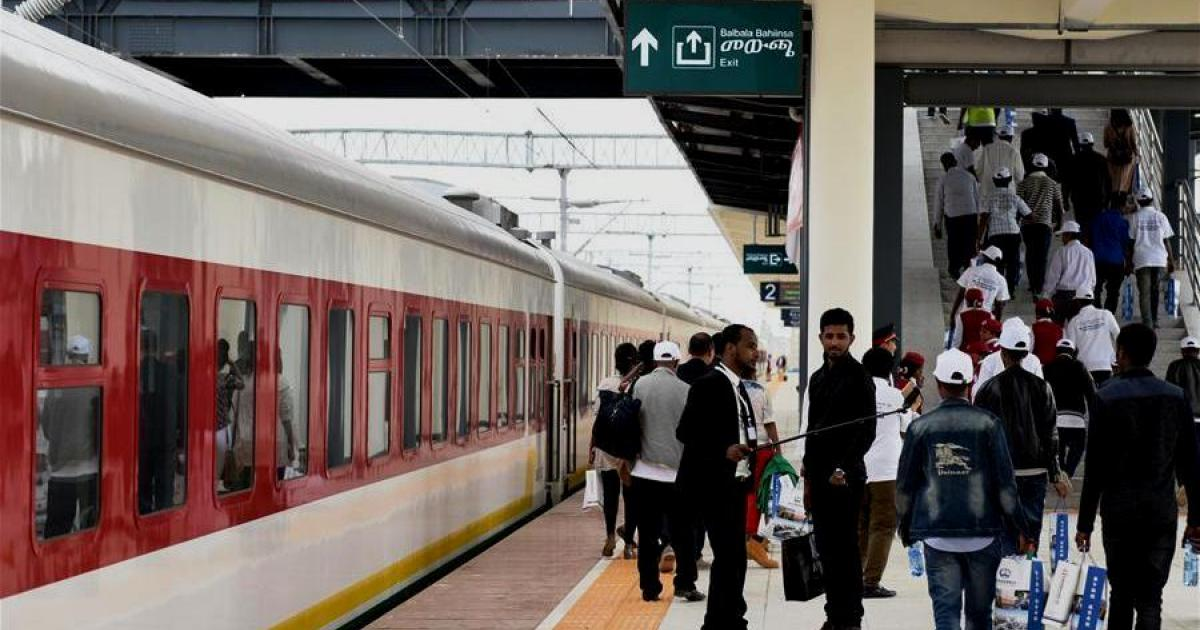 Addis-Djibouti railway's first trial journey launches