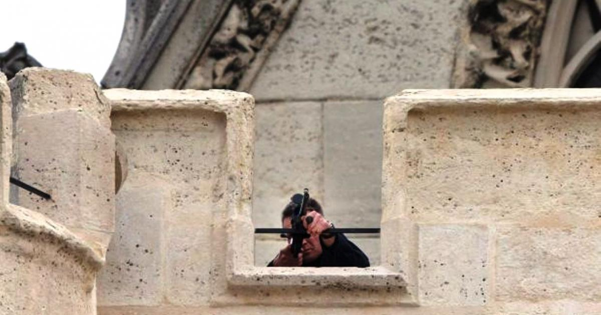 French police sniper shoots two in error at Hollande speech
