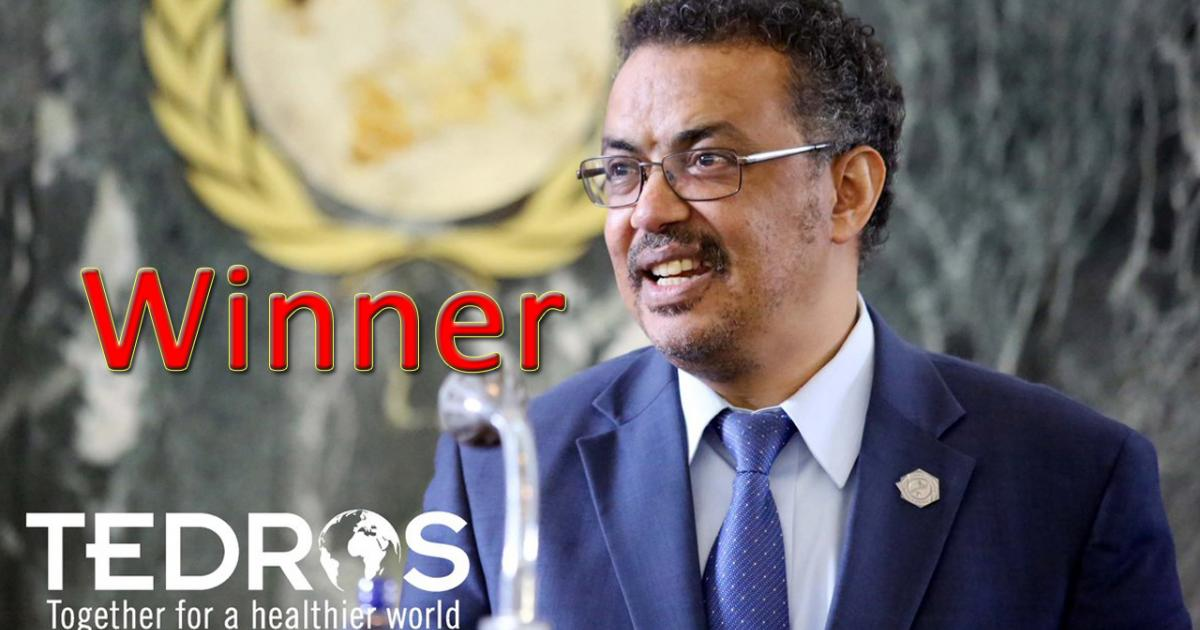 Dr. Tedros Adhanom of Ethiopia is elected as next Director General of WHO