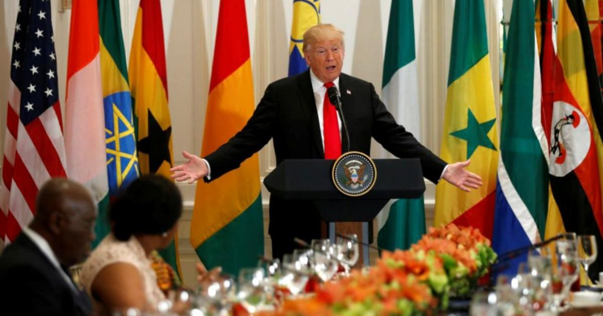 Donald Trump's comments on Africa at the UN were, um, odd