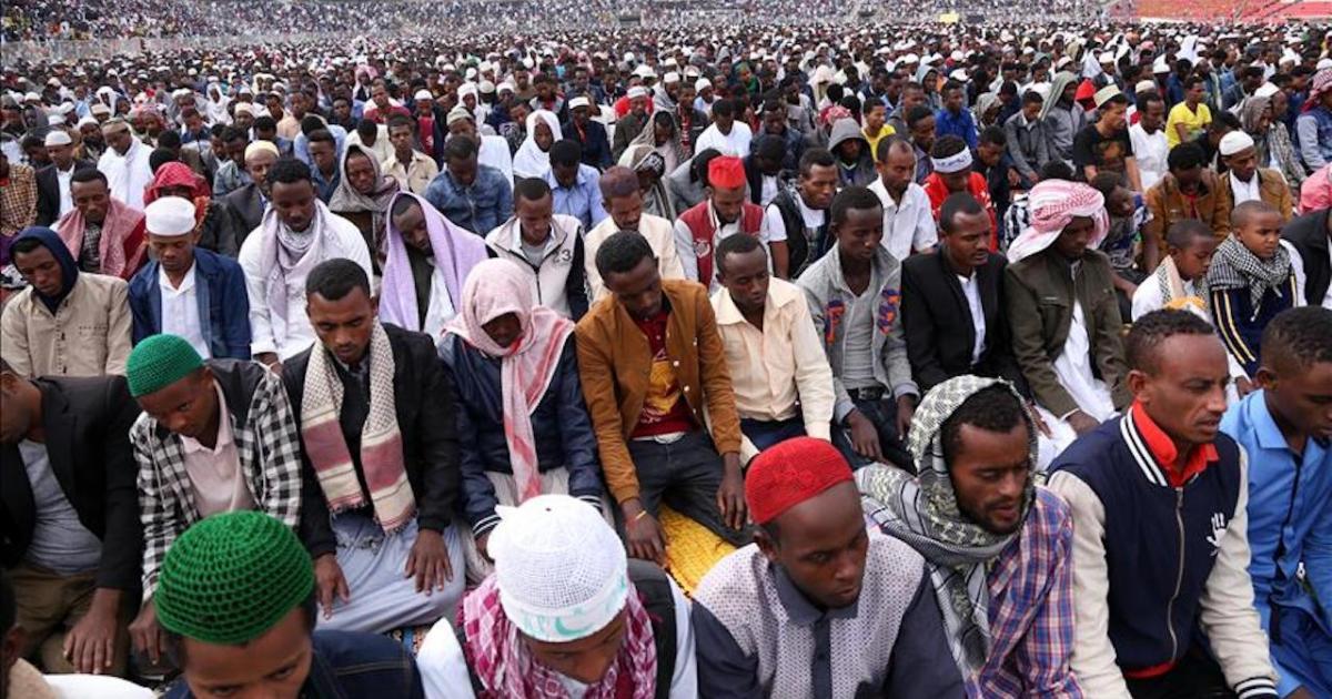 Ethiopian Muslims celebrate Eid-al Fitr
