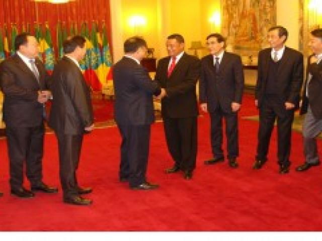 President, Chinese Company Chairman discuss progress on oil and gas project