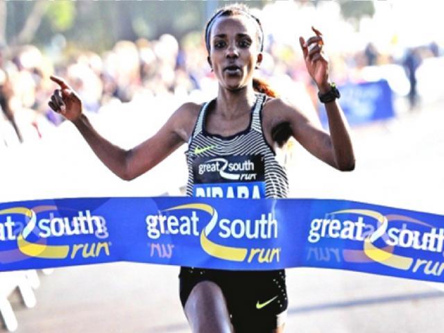 Tirunesh Dibaba wins Great South Run