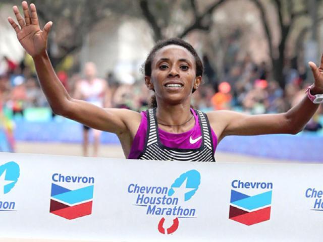 Meskerem Assefa of Ethiopia wins Houston Marathon
