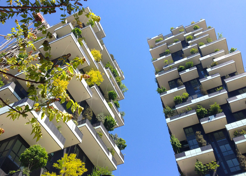 green architecture gives milan vertical forest diretube