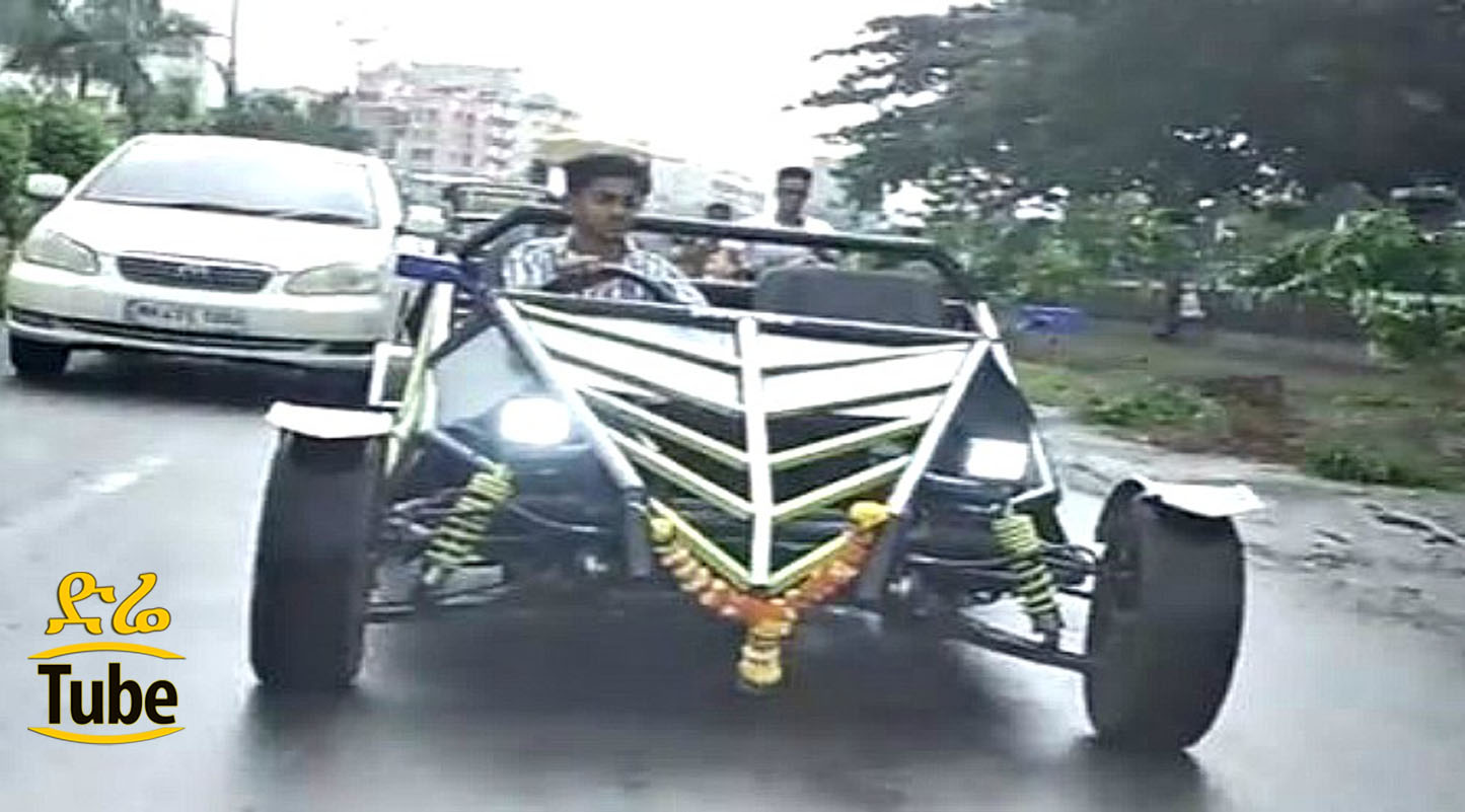 A19 Year-Old Indian Boy Made His Own Car from Scratch Using ...