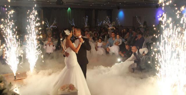 Tadias Addis - wedding reception firework