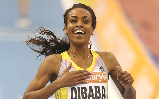 ETHIOPIA - Genzebe Dibaba SET A NEW INDOOR WORLD RECORD