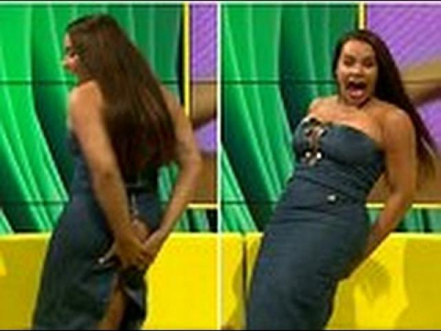 Hilarious Twerk Fail - Embarrassing Moment Lateysha Grace's Dress SPLITS on Live Tv