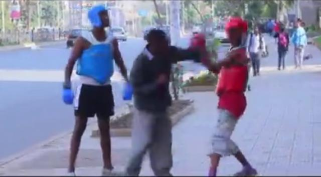 MUST WATCH! Funny Boxing on a street - Soldi Prank