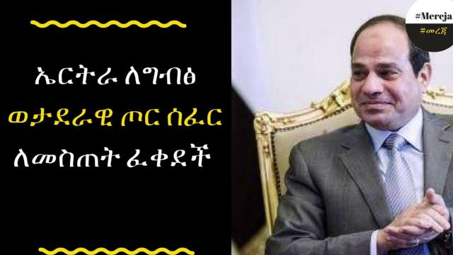 ETHIOPIA -     Egypt to establish military base in Eritrea