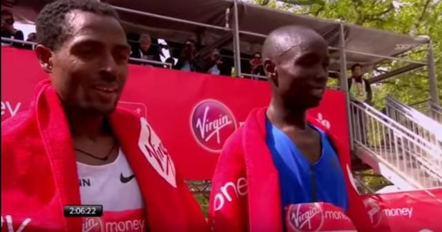 Kenya's Daniel Wanjiru vs. Ethiopia's Kenenisa Bekele | London Marathon 2017 | 2:05:48
