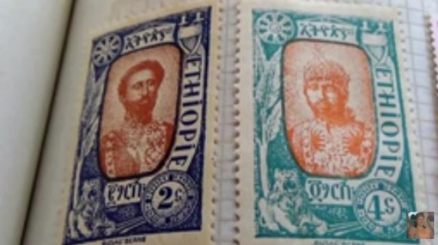 Old Ethiopia Postage Stamps