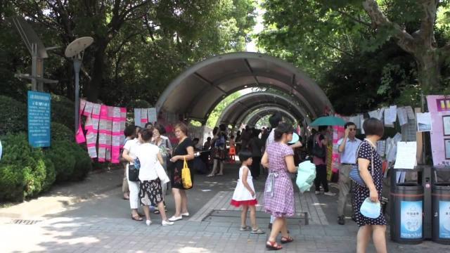 Shanghai marriage market where parents advertise their children