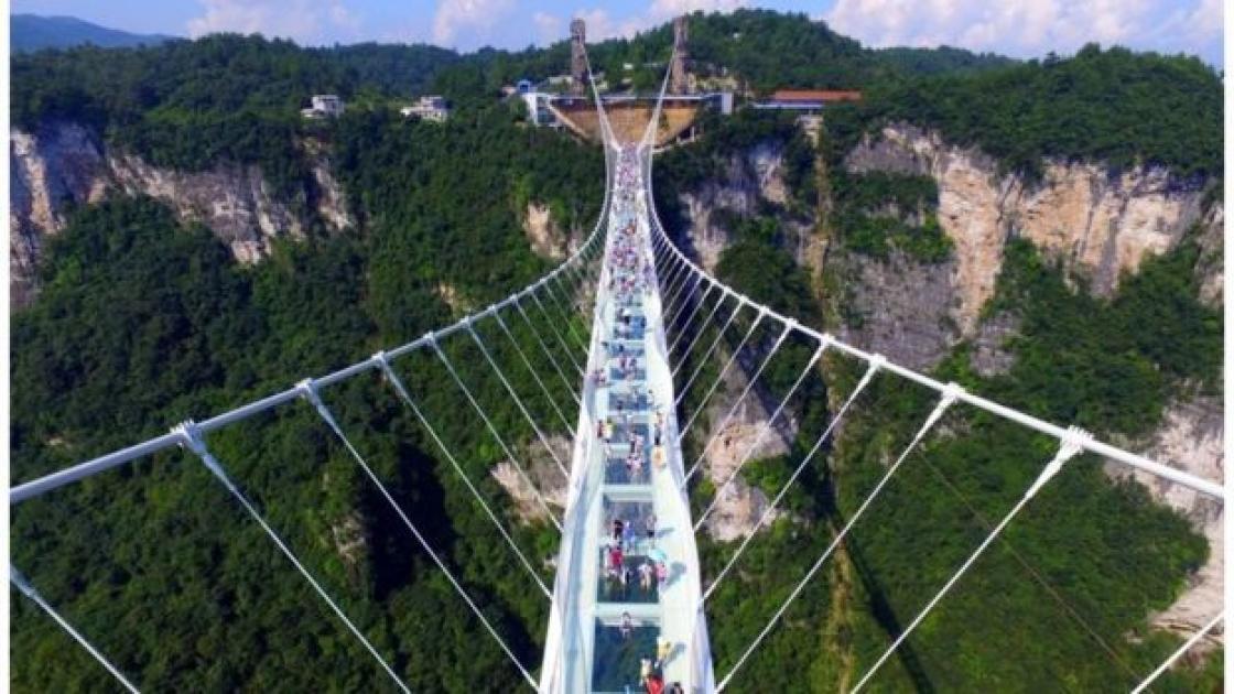 The World's Highest And Longest Glass Bridge - Amazing Places