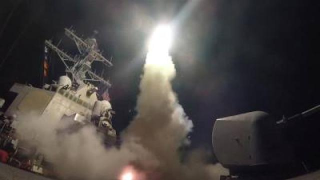 US attacks Syrian military with missiles