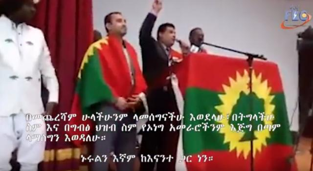 Fana BC - Egyptian Taking part in Oromo Rally in Cairo