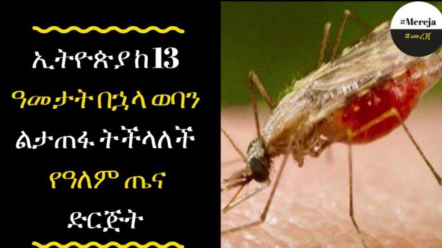 ETHIOPIA - Malaria is not aproblem for Ethiopia after 13 years