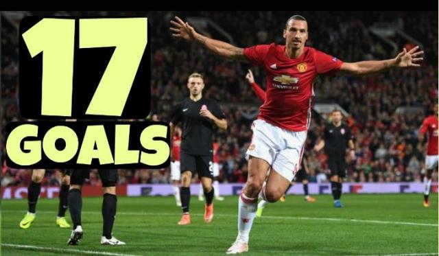 Zlatan Ibrahimovic - All 17 Goals for MANCHESTER UNITED - 2016